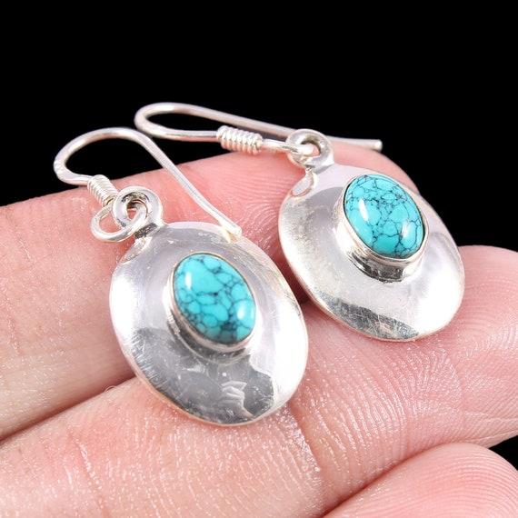Boho Earrings Gift for Her Anniversary Gift Mothers Day Birthday Gift Women\u2019s Dangle Earrings Handmade African Turquoise Earrings