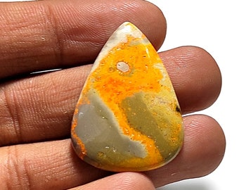 For Making Earrings 23.5 Ct 26X13X4mm J-2477 Attractive 100/% Natural Bumble Bee Jasper Oval Shape Cabochon Loose Gemstone