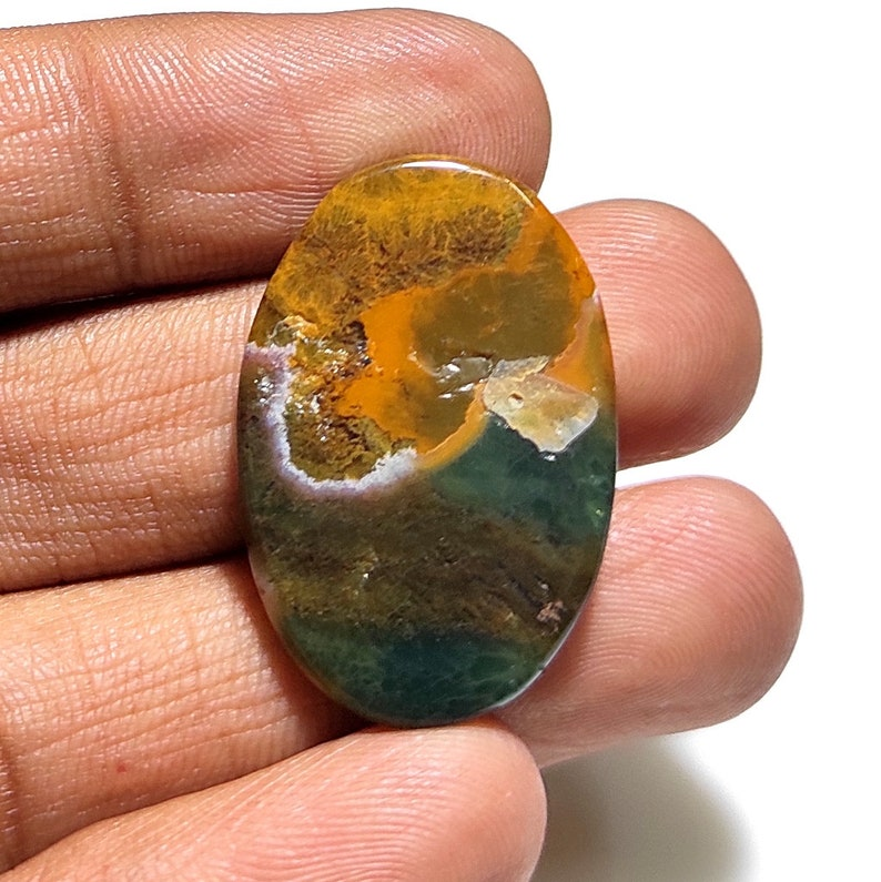33x22x4 mm 28 CTNatural Ocean Jasper Cabochon Ocean Jasper Making For Jewelry Ocean Jasper Gemstones Top Grade Quality Ocean Jasper