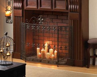 Fireplace Screen Etsy