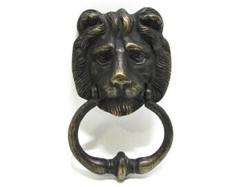 Michael Healy Lion Door Knocker Sweet and Fancy Vintage Bronze