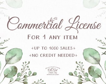 No Credits License 1 Commercial License LittlePoppyFlower on Etsy.
