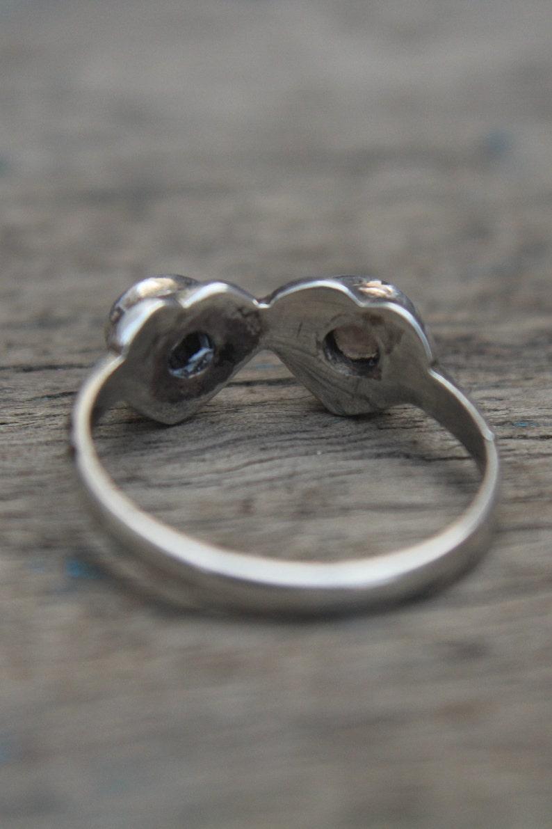 Minimalist Ring Crystal Quartz Ring Womens Ring Heart Stone Ring Clear Quartz Ring Gemstone Ring Gift For Her Ring Multistone Ring