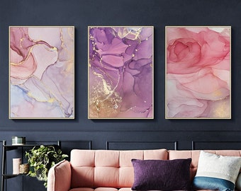 Pink And Purple Art Etsy