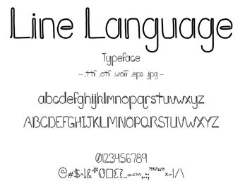 Font Line Language. A Vintage Art Deco Typeface With a 1920's Style Looks Like An Artistic Line Drawing. Hand Drawn Character and Letter Set