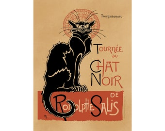 Toulouse Lautrec Art Reproduction - Le Chat Noir (The Black Cat) - Recreated in High Resolution. Print and Frame Any Size.