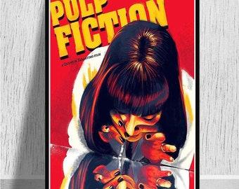 New Pulp Fiction Kill Bill Uma Thurman Classic Movie Custom Poster Art T-865