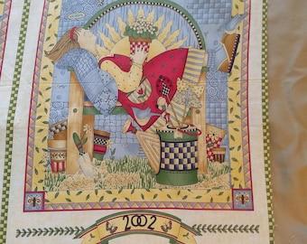 Debbie Mumm 2002 Calendar Fabric Panel