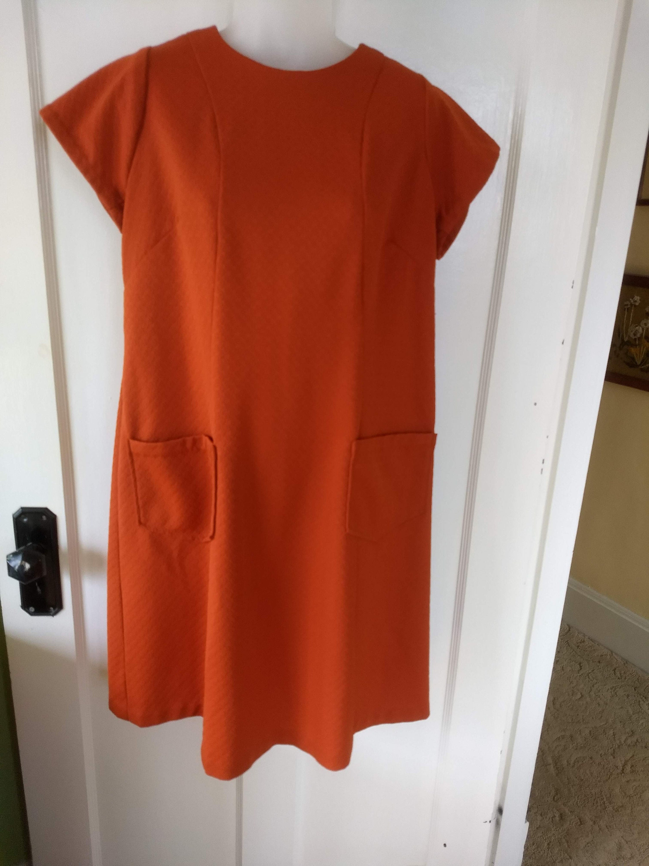80s Dresses | Casual to Party Dresses 1960S Burnt Orange Double Knit Dress $0.00 AT vintagedancer.com