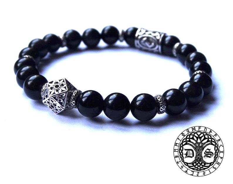 Magic Sterling Jera Futhark Healing Viking Rune Bracelet Protection