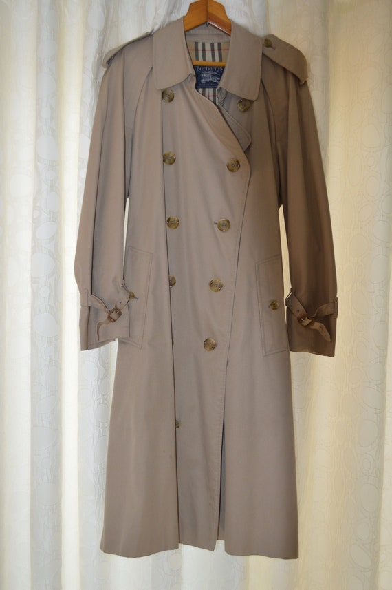 80s Men's Burberry Trench Coat (M)