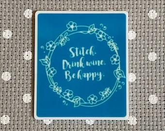 Needleminder Needle Minder Needle Nanny silver and blue tones CAMEO