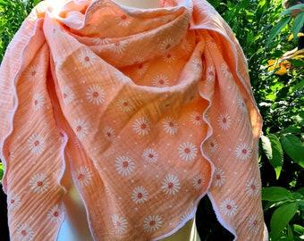 Scarf Cloth Cloth Triangular Cloth Muslin Triangular Cloth Muslin Cloth Stole Cape Rose Flowers Hose Scarf Gifts Ladies