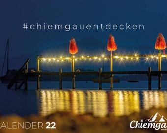 Monthly Wall Calendar Chiemgau 2022 Chiemgau Calendar Calendar 2022 Photo Calendar Annual Calendar Panorama Calendar Chiemsee Bavaria Alps Lake Photo