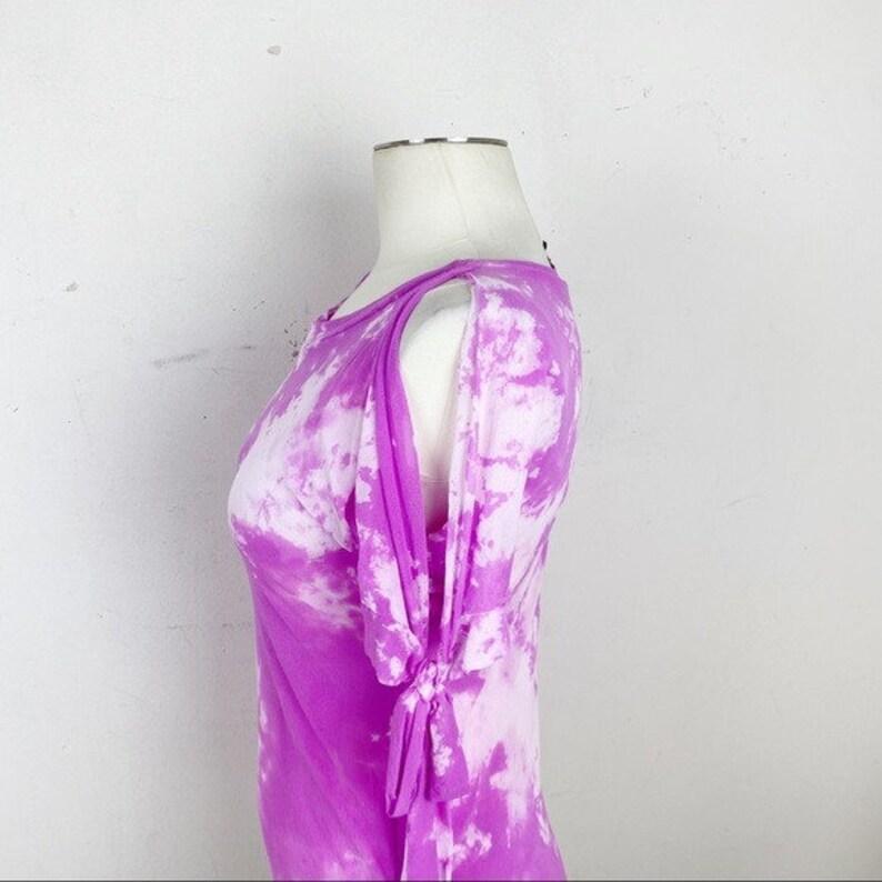 Petit Pois Cold Shoulder Tie Dye Top Size Medium