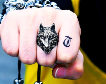 Viking wolf Ring, Fenrir wolf ring, Norse Ring, Viking ring, Animal Ring, Unisex ring, Men's ring, Men's Celtic Ring
