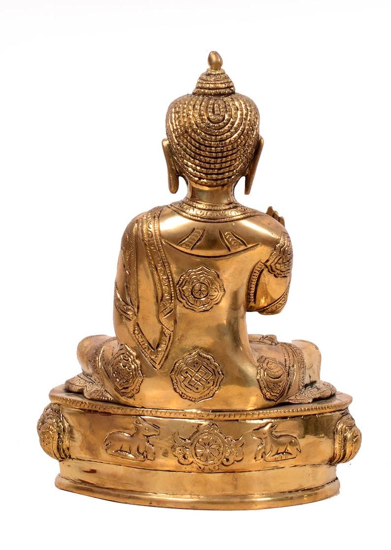 Peace,Meditation,Zen,Buddhism,yoga,love Buddha for Decor Handmade Indian Brass Buddha 10 inches Blessing Buddha Small Size