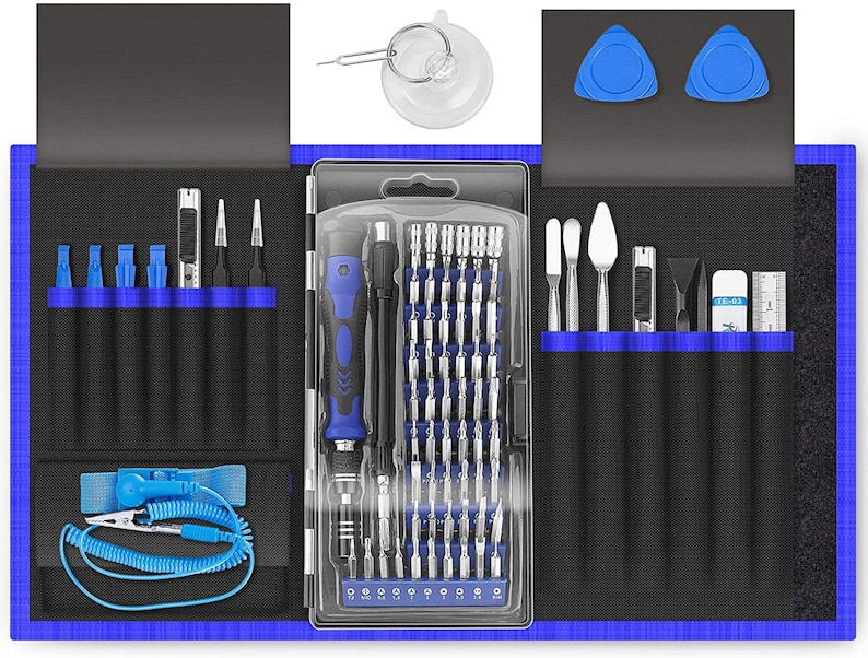 80 in 1 Precision Screwdriver Set with Magnetic Driver Kit Professional Electronics Repair Tool Kit for Computer Laptop iPhone Tablet