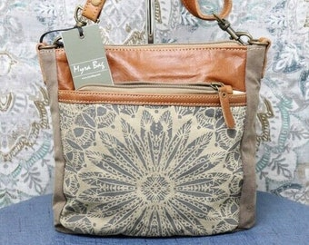 NEW Small Crossbody Bag for Women Canvas Purse Leather Crossbody  Cute Gift for Girls Boho Minimalist Casual Upcycled Purses Handbag