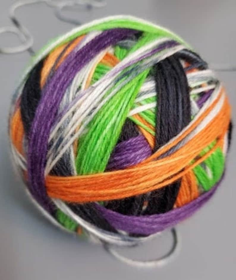 TRICKS and TREATS Ready to ship Self-Striping Sock Yarn image 0