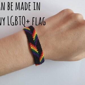 Gay Lesbian Bisexual Transgender Abrosexual Ace  Bi Pansexual Agender Genderfluid omnisexual Rainbow LGBTQ custom flag LGBTQ Pride Bracelet