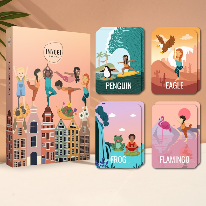 Kids Yoga Cards  Yoga Flashcards  Yoga Cards for Kids  Calm image 0