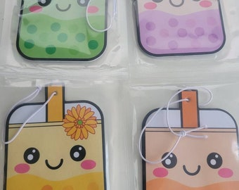 4-Pack Newest Scents Boba Air Fresheners