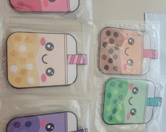 5-Pack Combo Boba Air Fresheners (Milk Tea, Taro, Strawberry, Lychee, and Honeydew)