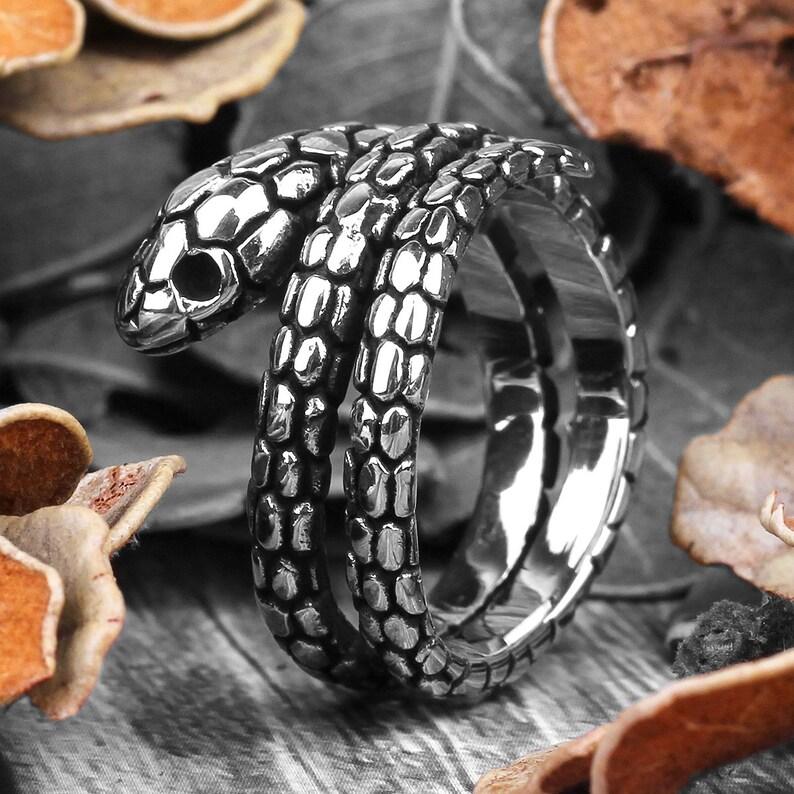 gothic snake ring animal ring boho ring Snake ring womens ring snake jewelry silver snake ring rings for women womens jewelry