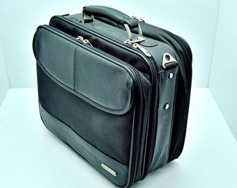 laptop case HP 14 laptop case Vintage Hewlett Packard Laptop Briefcase with shoulder strap; briefcase Hewlett Packard