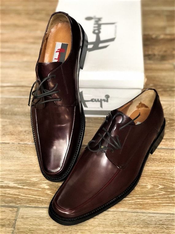 Vintage Oxford Man Shoes, Burgundy Oxford Shoes