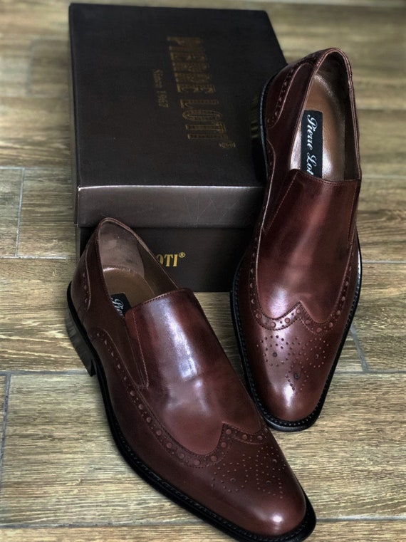 Vintage Oxford Man Shoes, Brown Oxford Shoes
