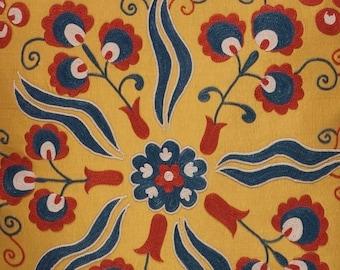 Silk Suzani Pillow Cover