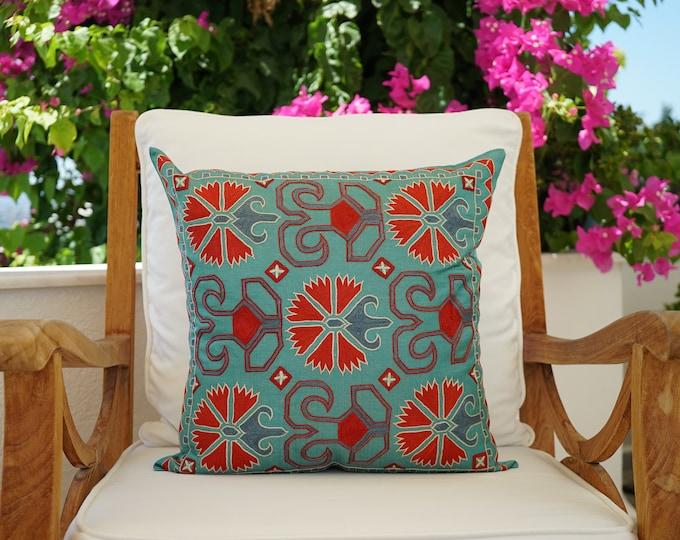 Featured listing image: Uzbek Silk Handmade Suzani Pillow Cover
