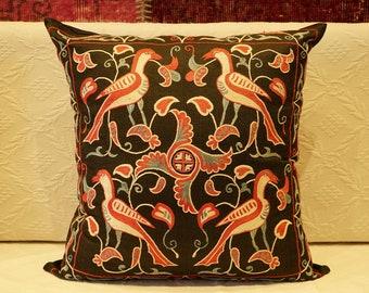 Uzbek Silk Handmade Suzani Pillow Cover