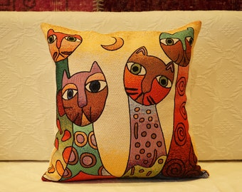 Cotton Painted Pillow Cover