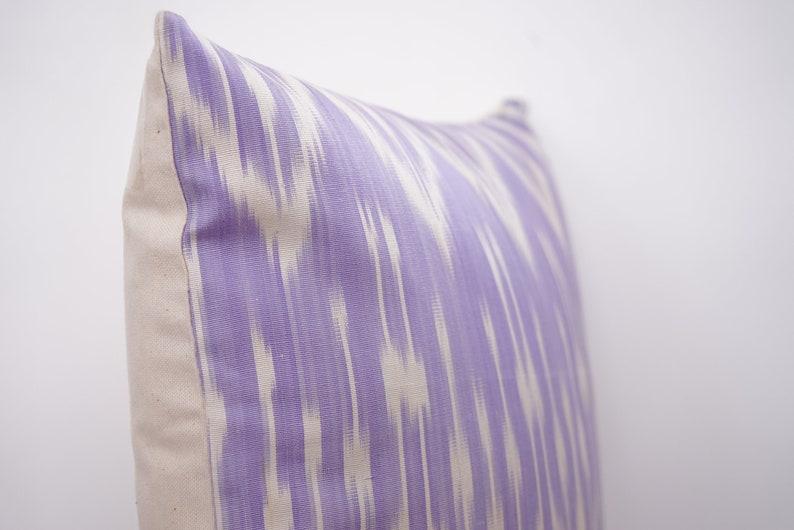 Uzbek Silk Handmade Ikat Pillow Cover Geometric Pillow Case Colorful Silk Vintage Art Pillow Modern Cushion Cover Bohemian Fabric Pillow