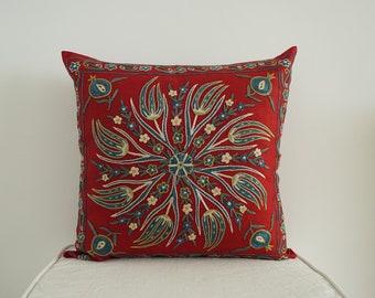 Uzbek Silk Embroidery Suzani Pillowcase