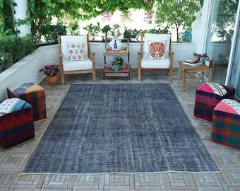 Turkish Isparta Wool Handmade Vintage Rug, Antique Turkish Carpet, Tribal old carpet, Medallion design carpet, Bohemian solid color carpet