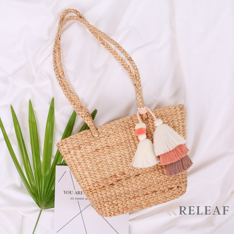 French Basket Bag with Tassel