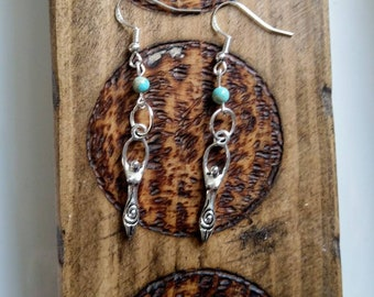 Free Enhanced Shipping Blue Sea Sediment Jasper Crystal and Clay Goddess Pendant