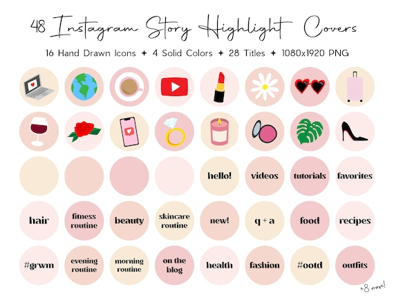 48 Influencer Instagram Highlight Covers Hand Drawn Beauty Etsy Anime aesthetic profile picture pink #animeworld #animegirls #animememe anime emerged when japanese filmmakers realized and began to make the most of american, german, french and russian animation strategies within the first 1900s. etsy