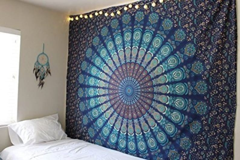 """Wall Tapestry Blue Multi tapestry Wall Hanging Mandala Poster :- 40"""" X 30"""" inches"""