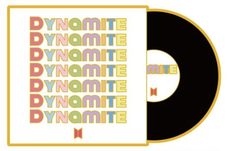 BTS Pin Dynamite Enamel Pin BTS enamel pin BT21 KPop Hallyu Korea Bangtan