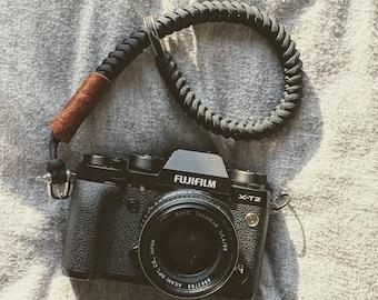 Camera Wrist strap, Black  ,Universal fit for SLR/DSLR ,Canon,Nikon,Sony,Leica ,Hand made