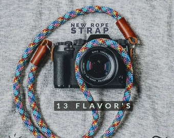 NEW Climbing Rope Camera Strap  ,8 flavours Universal fit for SLR/DSLR ,Canon,Nikon,Sony,Leica & More