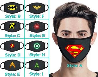 Batman Face Mask Etsy