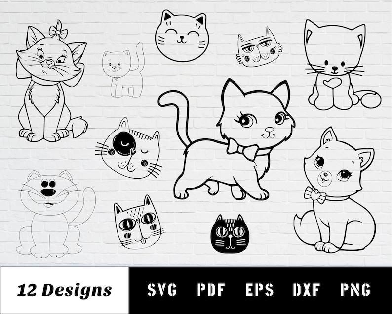 Download Cute Cat SVG cat svg cat face svg kitten svg cat clipart ...