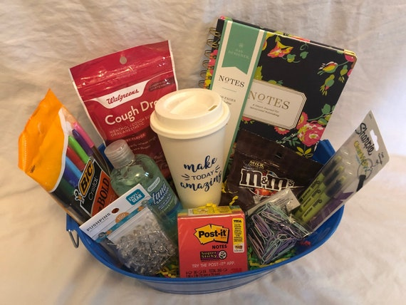 Small College Survival Kit Gift Basket Remote Learning Etsy