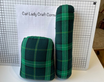 Small Tailors / Dressmakers / Pressing Ham/ Slimline Sleeve Roll/ Sausage, Tartan Sewing Ham Set